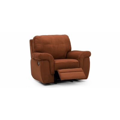 Brunswick Rocker Leather Recliner Type: Manual, Upholstery: Bonded Leather - Champion Alabaster