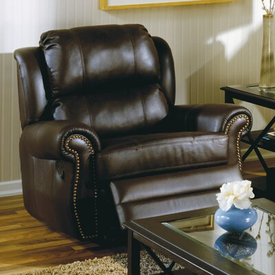 Luca Rocker Recliner Upholstery: Leather/PVC Match - Tulsa II Sand, Type: Power