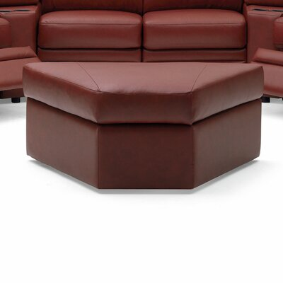 Brunswick Ottoman Upholstery: Leather/PVC Match - Tulsa II Dark Brown