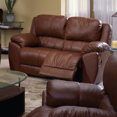 Benson Leather Loveseat Type: Power, Upholstery: Bonded Leather - Champion Khaki
