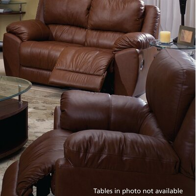 Benson Rocker Recliner Type: Manual, Upholstery: Leather/PVC Match - Tulsa II Jet