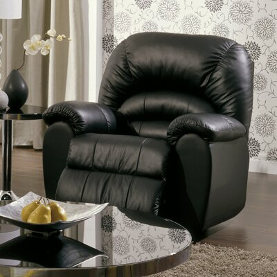 Taurus Rocker Recliner Upholstery: All Leather Protected - Tulsa II Jet, Type: Power