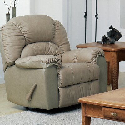 Taurus Rocker Recliner Type: Manual, Upholstery: Leather/PVC Match - Tulsa II Chalk