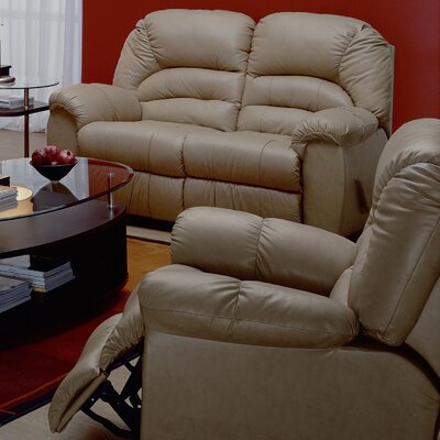 Taurus Rocker Recliner Type: Manual, Upholstery: All Leather Protected - Tulsa II Chalk