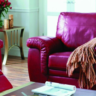 Brunswick Armchair Upholstery: All Leather Protected - Tulsa II Dark Brown