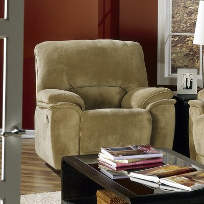 Dallin Rocker Recliner Type: Power, Upholstery: Leather/PVC Match - Tulsa II Stone