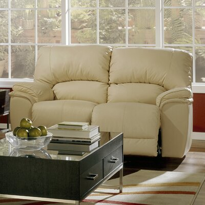 Dallin Reclining Loveseat Upholstery: All Leather Protected - Tulsa II Stone, Type: Power