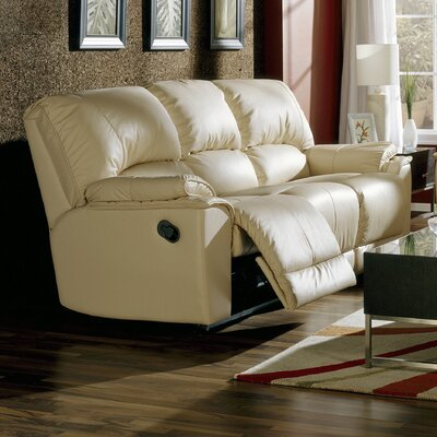 Dallin Leather Reclining Sofa Upholstery: All Leather Protected - Tulsa II Stone, Type: Power