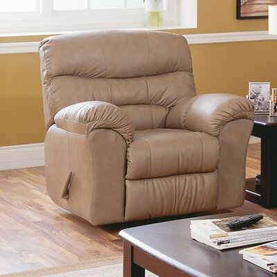 Durant Rocker Recliner Upholstery: All Leather Protected - Tulsa II Stone, Recliner Mechanism: Manual