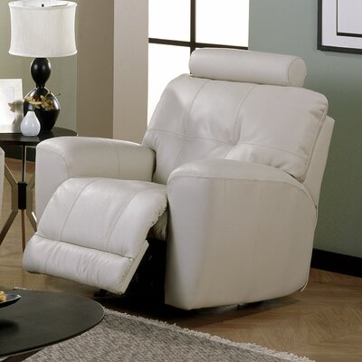 Galore Rocker Recliner Upholstery: All Leather Protected - Tulsa II Dark Brown, Recliner Mechanism: Powered