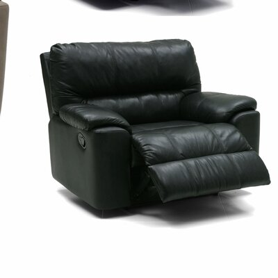 Yale Recliner Upholstery: All Leather Protected - Tulsa II Jet, Type: Manual