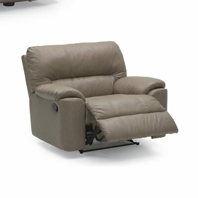 Yale Recliner Type: Manual, Upholstery: Bonded Leather - Champion Alabaster