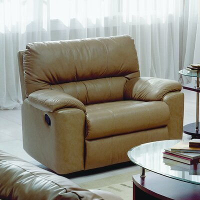 Yale Rocker Recliner Type: Manual, Upholstery: Leather/PVC Match - Tulsa II Sand