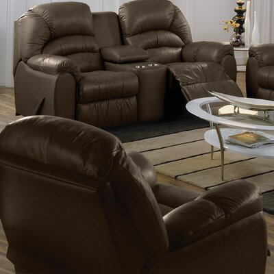 Taurus Rocker Recliner Upholstery: All Leather Protected - Tulsa II Dark Brown, Type: Power