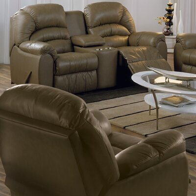 Taurus Rocker Recliner Upholstery: All Leather Protected - Tulsa II Stone, Type: Power