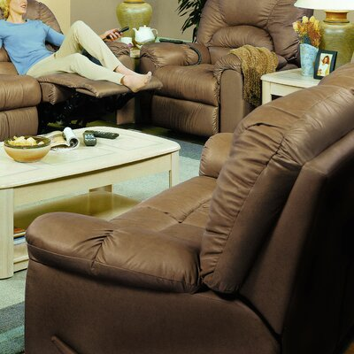 Taurus Reclining Loveseat Type: Power, Upholstery: All Leather Protected - Tulsa II Sand