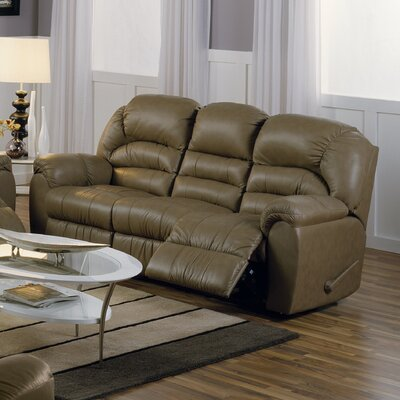 Taurus Leather Reclining Sofa Type: Manual, Upholstery: All Leather Protected - Tulsa II Stone