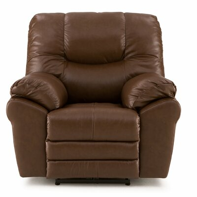 Divo Rocker Recliner Type: Manual, Upholstery: Leather/PVC Match - Tulsa II Jet