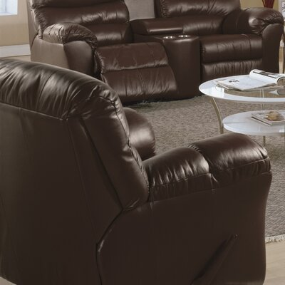 Durant Rocker Recliner Upholstery: Leather/PVC Match - Tulsa II Dark Brown, Recliner Mechanism: Powered
