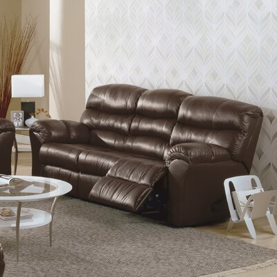 Durant Leather Sofa Upholstery: Leather/PVC Match - Tulsa II Dark Brown, Reclining Mechanism: Manual