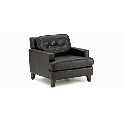 Barbara Club Chair Upholstery: All Leather Protected  - Tulsa II Dark Brown