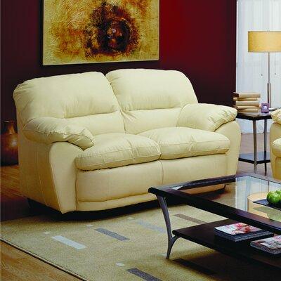 Harley Loveseat Upholstery: Leather/PVC Match - Tulsa II Stone