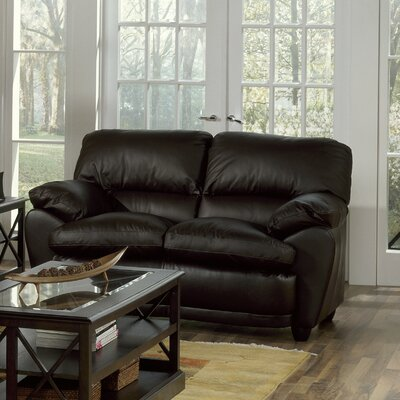Harley Loveseat Upholstery: Leather/PVC Match - Tulsa II Bisque