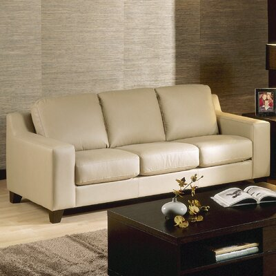 Reed Sofa Upholstery: All Leather Protected - Tulsa II Stone, Leg Finish: Espresso