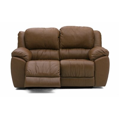 Benson Leather Loveseat Upholstery: All Leather Protected - Tulsa II Sand, Type: Power