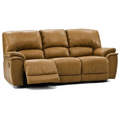 Brunswick Reclining Sofa Type: Manual, Upholstery: All Leather Protected - Tulsa II Sand