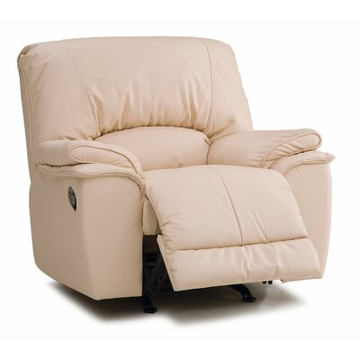 Dallin Rocker Recliner Type: Power, Upholstery: Leather/PVC Match - Tulsa II Chalk