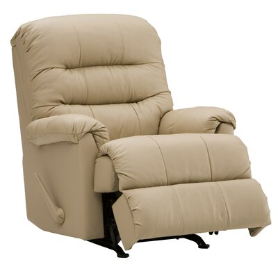 Columbus Rocker Recliner Type: Manual, Upholstery: All Leather Protected - Tulsa II Stone