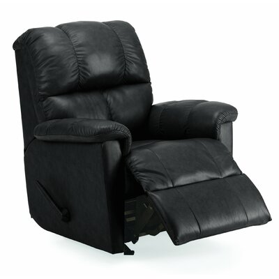 Gilmore Rocker Recliner Upholstery: All Leather Protected - Tulsa II Jet, Type: Manual