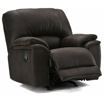 Dallin Rocker Recliner Type: Power, Upholstery: Leather/PVC Match - Tulsa II Dark Brown
