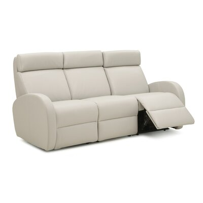 Jasper II Reclining Sofa Color: Tulsa II Chalk, Leather Type: Leather PVC/Match, Type: Power