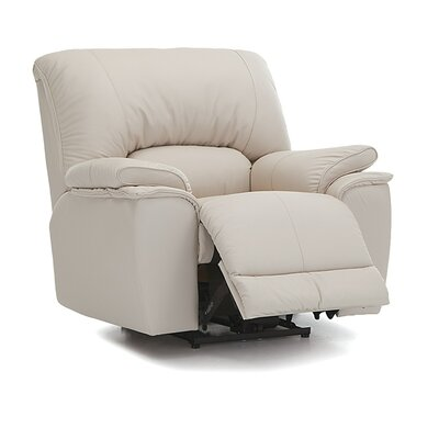 Dallin Swivel Rocker Recliner Upholstery: Leather/PVC Match - Tulsa II Jet