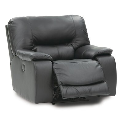 Galore Swivel Rocker Recliner Upholstery: Bonded Leather - Champion Onyx