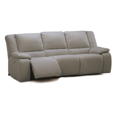Harrow Leather Reclining Sofa Upholstery: All Leather Protected - Tulsa II Stone, Type: Manual