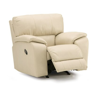 Shields Wall Hugger Recliner Upholstery: Leather/PVC Match - Tulsa II Bisque, Type: Manual