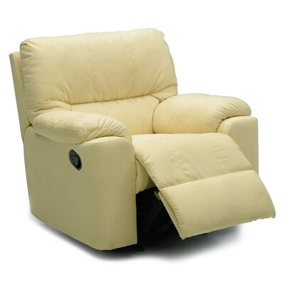 Picard Swivel Rocker Recliner Upholstery: Leather/PVC Match - Tulsa II Sand