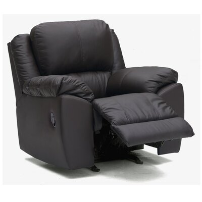 Benson Wall Hugger Recliner Upholstery: Bonded Leather - Champion Onyx, Type: Power