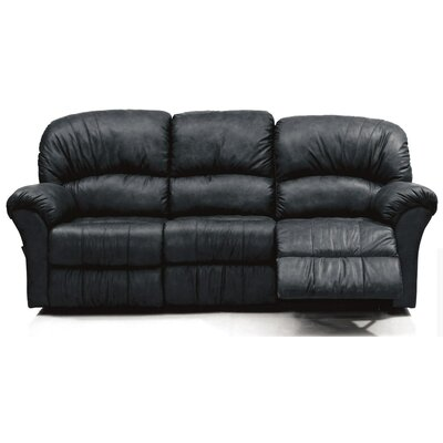 Callahan Leather Reclining Sofa Upholstery: Bonded Leather - Champion Onyx, Type: Power