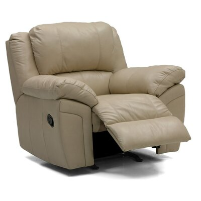 Daley Swivel Rocker Recliner Upholstery: Leather/PVC Match - Tulsa II Chalk