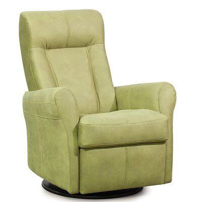 Yellowstone Wall Hugger Recliner Upholstery: Leather/PVC Match - Tulsa II Jet, Type: Power