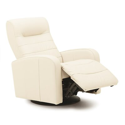 Riding Mountain II Rocker Recliner Upholstery: Leather/PVC Match - Tulsa II Chalk