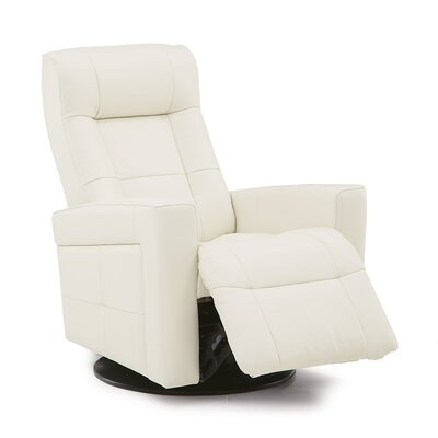 Chesapeake Power Wall Hugger Recliner Reclining Type: Power, Upholstery: Leather/PVC Match - Tulsa II Sand