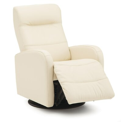 Valley Forge Swivel Glider Recliner Upholstery: Leather/PVC Match - Tulsa II Stone, Type: Manual