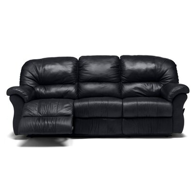 Tracer Reclining Sofa Upholstery: Bonded Leather - Champion Onyx, Leather Type: Bonded Leather - Champion Khaki