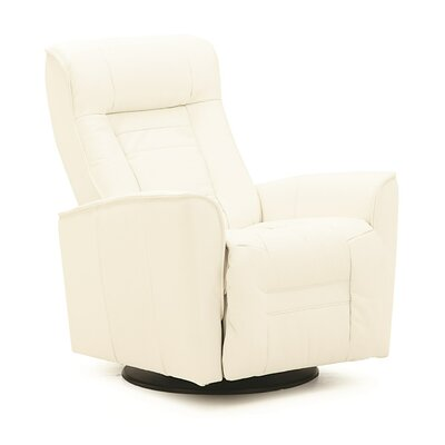 Glacier Bay II Wall Hugger Recliner Upholstery: All Leather Protected - Tulsa II Chalk, Type: Power