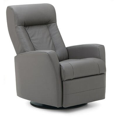 Banff II Wall Hugger Recliner Upholstery: Leather/PVC Match - Tulsa II Chalk